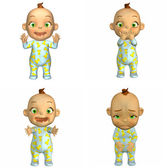 Cartoon Baby Pack 2of2 — Stock Photo