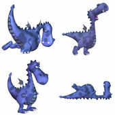Blue dragon pack - 1of3 — Stockfoto