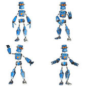 Blue Robot Pack - 2of3 — Stock Photo
