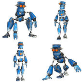 Blue Robot Pack - 1of3 — Stock Photo