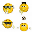 Emoticon Pack - 4of9 - Stock Photo