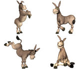 Donkey Cartoon Pack - 1of2 — Stock Photo