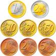 opakowanie monet euro — Zdjęcie stockowe