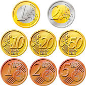 Euro Coins Pack — Stock Photo
