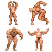 Muscular Men Pack - 2of2 — Stock Photo