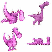 Rosa dragon pack - 3of3 — Stockfoto