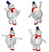 Snowman Pack — Stock Photo