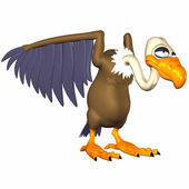 Cartoon Vulture — Stock Photo