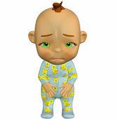 Sad baby cartoon — Stock Photo