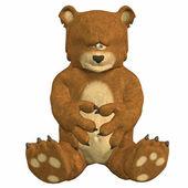 Sad cartoon bear — Stock Photo