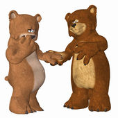 Bear couples in love — Stock Photo