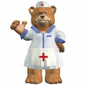 Verpleegkundige beer — Stockfoto