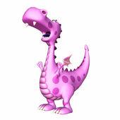 Shouting Dragon Cartoon — Stock Photo
