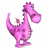 Dibujos animados dragón triste — Foto de Stock