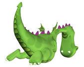 Мультфильм дракона, улетающий. — Стоковое фото