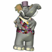 Fancy Elephant — Stock Photo