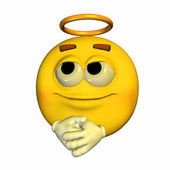 Angel Emoticon — Stock Photo