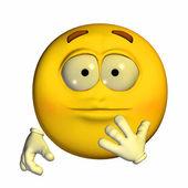 Shocked Emoticon — Stock Photo
