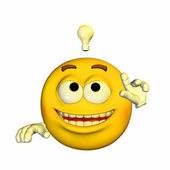 Bright Idea Emoticon — Stock Photo