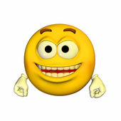 Happy Emoticon — Stock Photo
