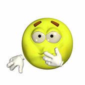 Ill Emoticon — Stock Photo