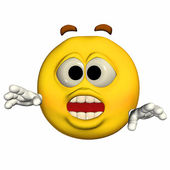 Surprised Emoticon — Stock Photo