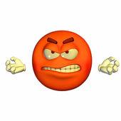 Raged Emoticon — Stock Photo