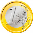 One (1) Euro Coin — Stock Photo