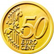 Fifty (50) Cent Euro Coin — Stock Photo #9125164