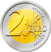Two (2) Euro Coin — Stock Photo