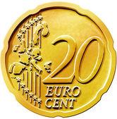 Cent vingt 20 Euro pièce — Photo