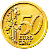 Fifty (50) Cent Euro Coin — Stock Photo