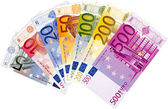 All Euro banknotes — Stock Photo