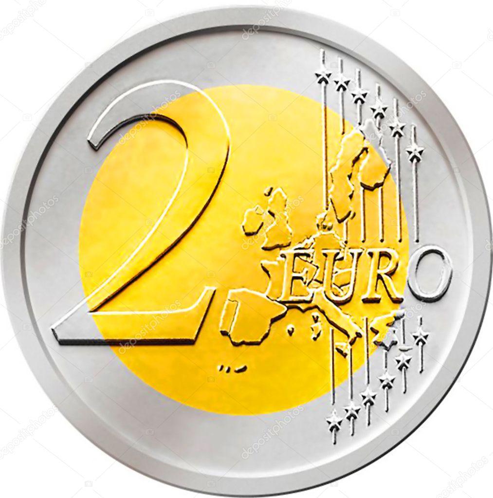 Due 2 euro moneta foto stock chastity 9125124 - Stock piastrelle 2 euro ...