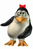 Nieśmiały kobieta pingwin — Zdjęcie stockowe