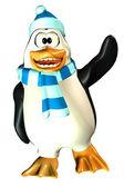 Vifta med manliga pingvin — Stockfoto