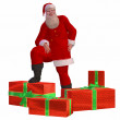Santa Claus with christmas presents — Foto de Stock