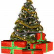 Royalty-Free Stock Photo: Christmas tree with presents