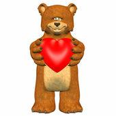 Shy Bear In Love — Stock Photo