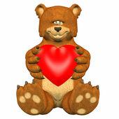 Sad Bear In Love — Stock Photo