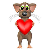 Mouse In Love — Stock Photo