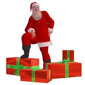 Santa Claus with christmas presents — Stock Photo
