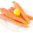Carrots with a lemon — Stock Photo