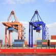 Stock Photo: Cranes and Containers