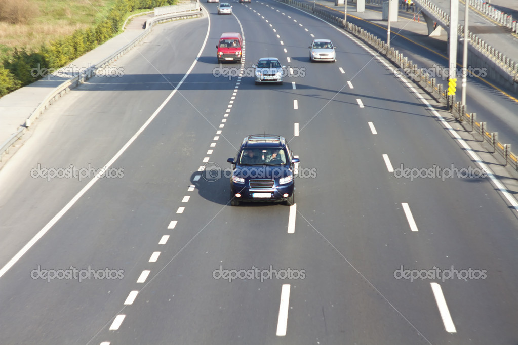 Multilane motorway — Stock Photo #9512499