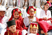 Children in traditional costumes — Stock Photo