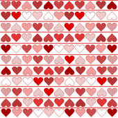 Background pattern with red hearts — Stock Vector