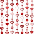 Royalty-Free Stock Vector Image: Background with ornaments for Valentine