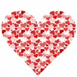 Stylized heart made from hearts — Stock Vector