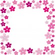 Pink floral frame — Stock Vector #9146747